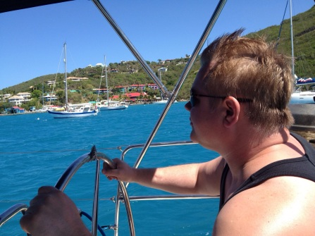Sailing from Trellis Bay